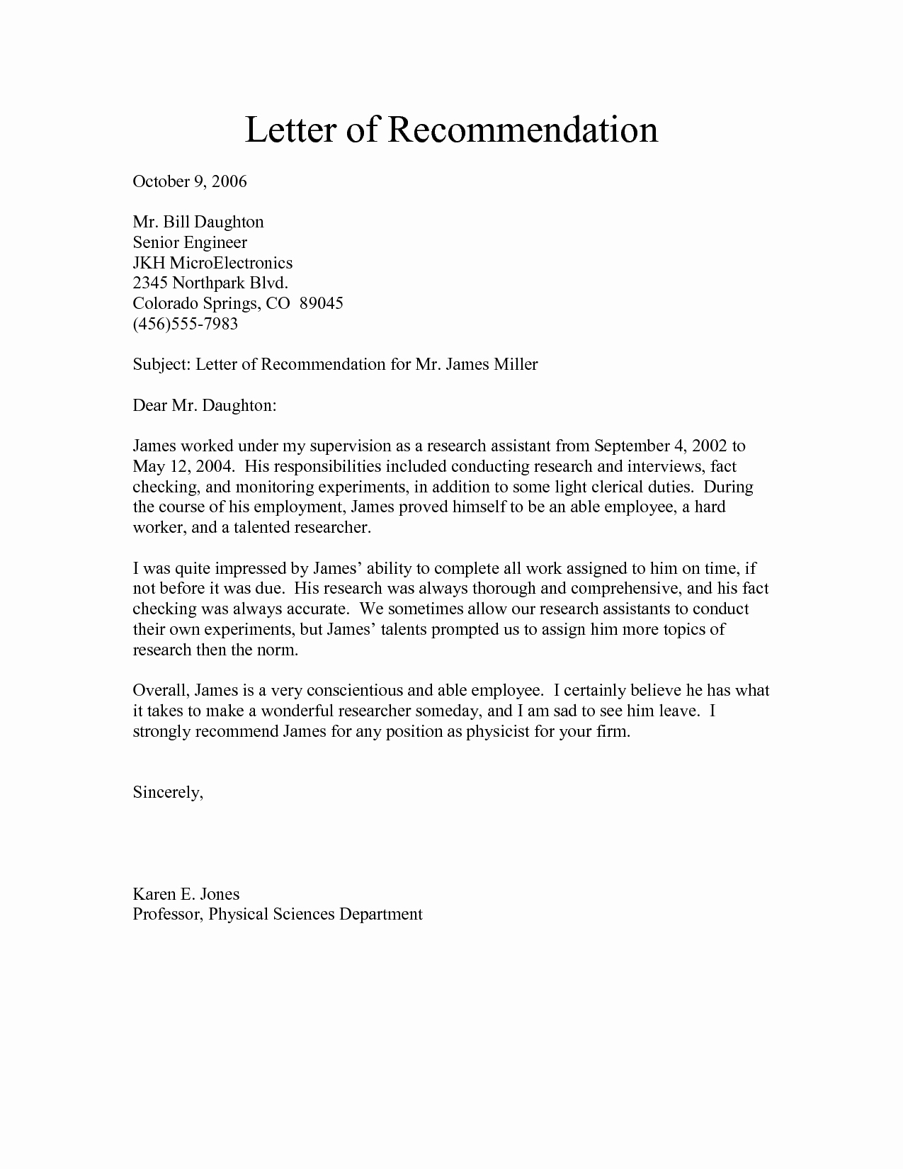 Sample Of Letter Of Reference Unique Free Re Mendation Letter Download