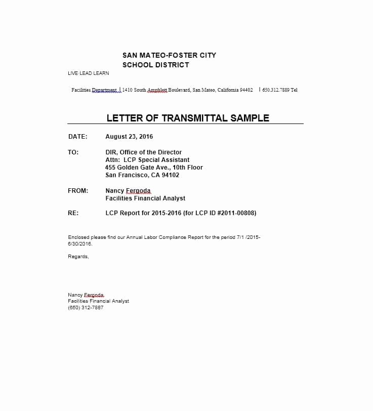 Sample Of Letter Of Transmittal Awesome Letter Of Transmittal 40 Great Examples & Templates
