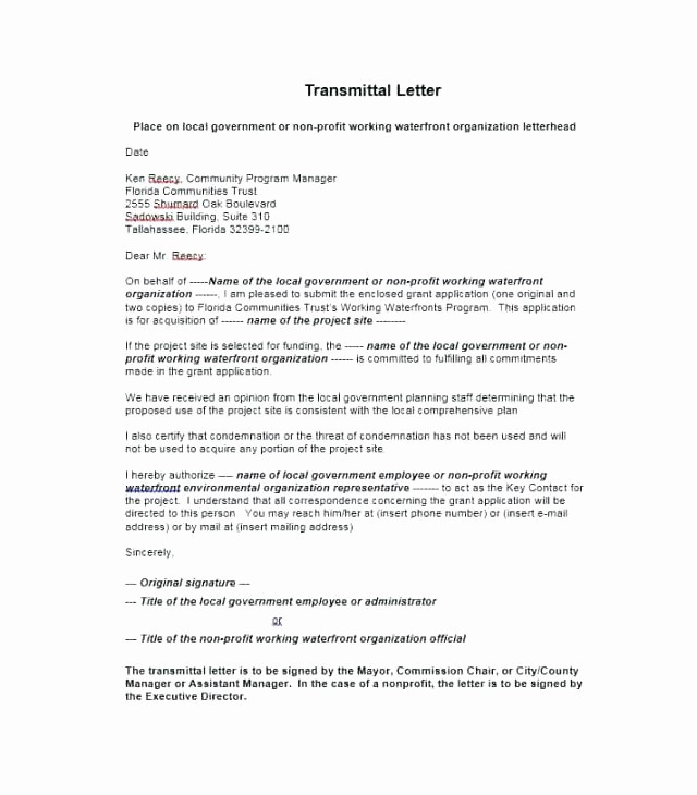 Sample Of Letter Of Transmittal Beautiful Letter format without Letterhead New Sample Transmittal