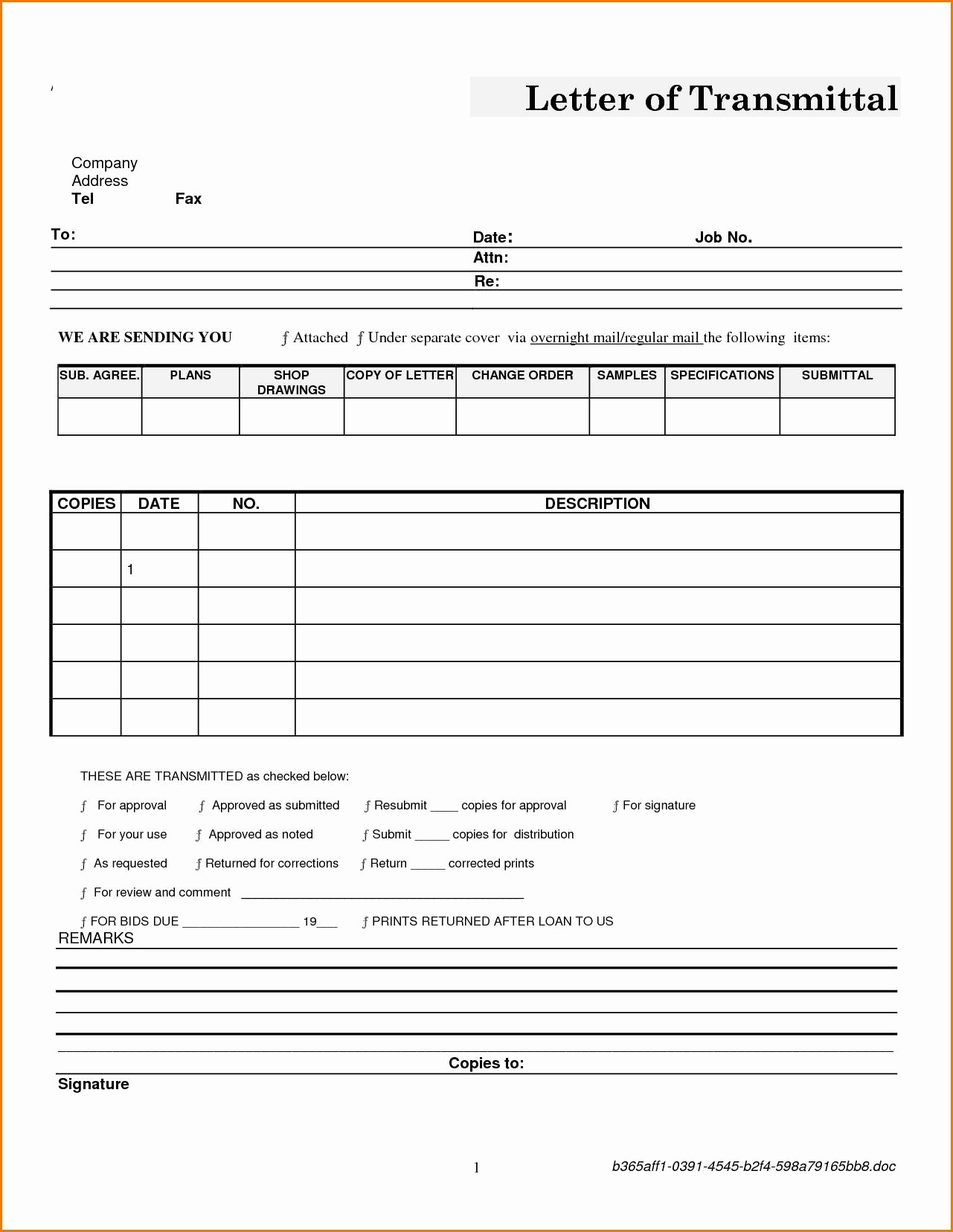 Sample Of Letter Of Transmittal Beautiful Letter Transmittal Template Construction Samples