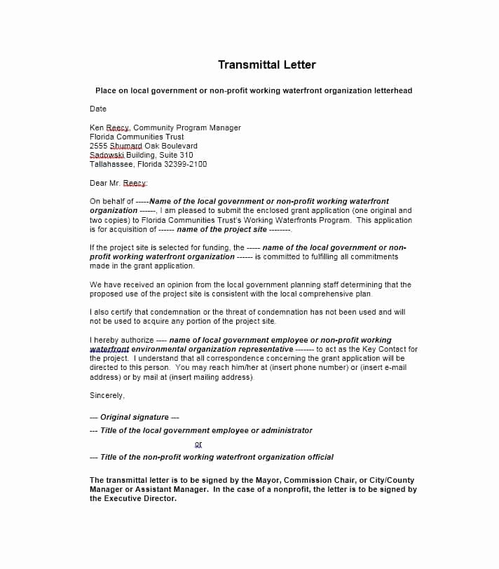 Sample Of Letter Of Transmittal Best Of Letter Of Transmittal 40 Great Examples & Templates