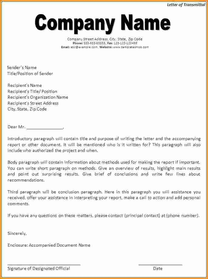 Sample Of Letter Of Transmittal Inspirational Letter Transmittal Template Beepmunk