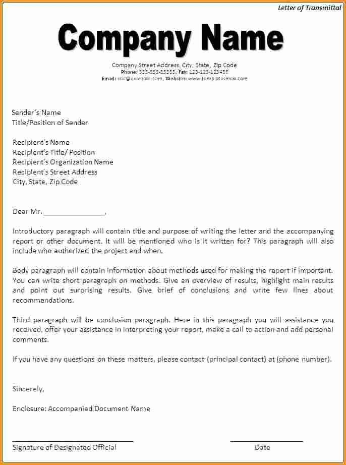 Sample Of Letter Of Transmittal Inspirational Letter Transmittal Template Beepmunk