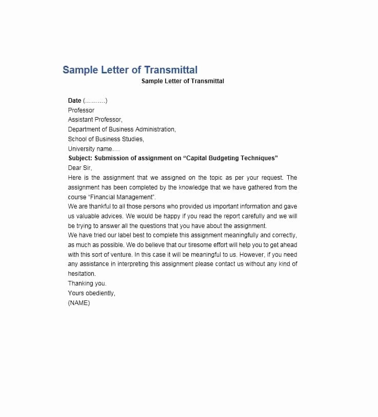 Sample Of Letter Of Transmittal Lovely Letter Of Transmittal 40 Great Examples & Templates