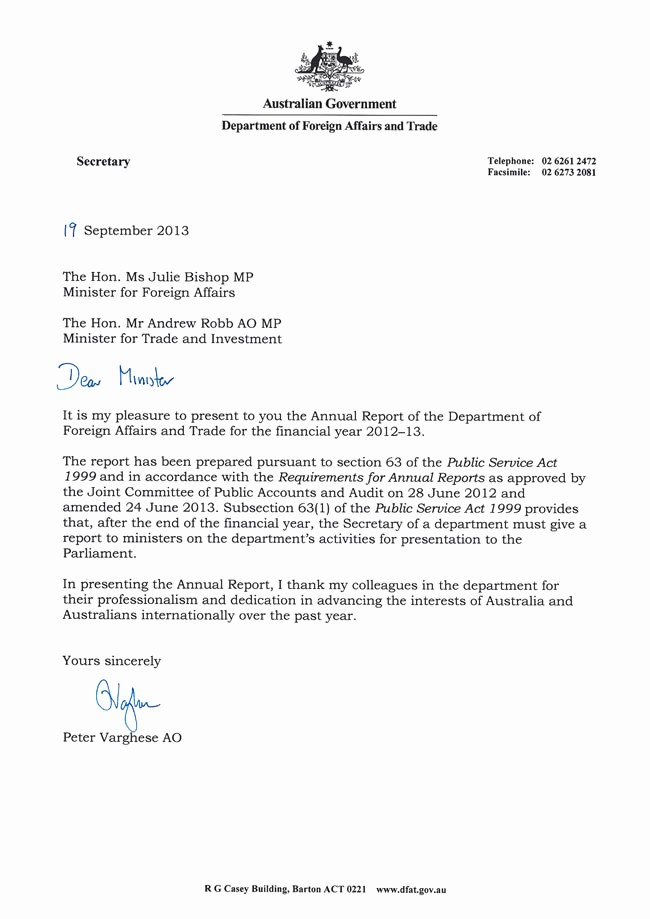 Sample Of Letter Of Transmittal New Letter Transmittal Australian Department foreign Affairs