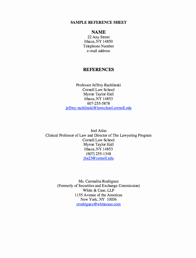 Sample Of List Of References New Pin by Ririn Nazza On Free Resume Sample