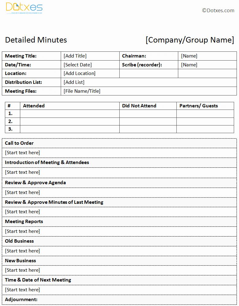 Sample Of Meeting Minutes format Beautiful Sample Of Minutes Of Meeting Descriptive format Dotxes