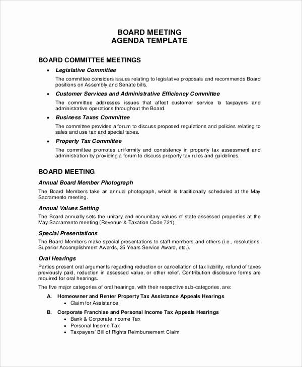 Sample Of Meeting Minutes format Fresh 20 Meeting Agenda Samples