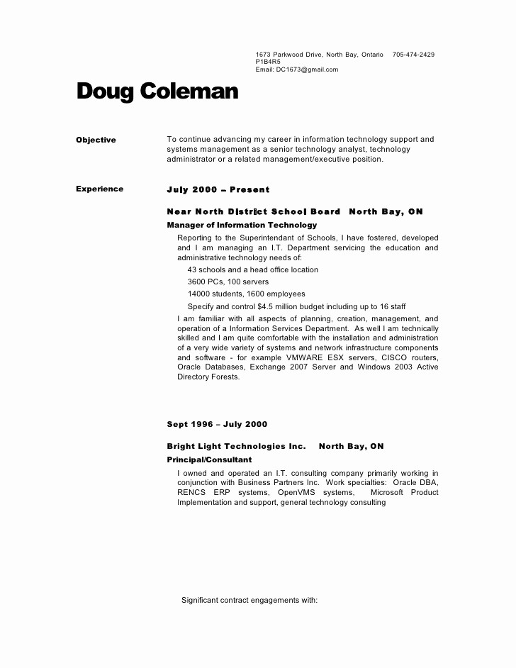 Sample Of References for Resume Awesome Dougs Resume No References