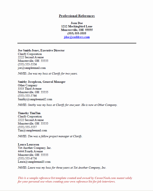 Sample Of References for Resume Awesome How to Title References Page for Resume
