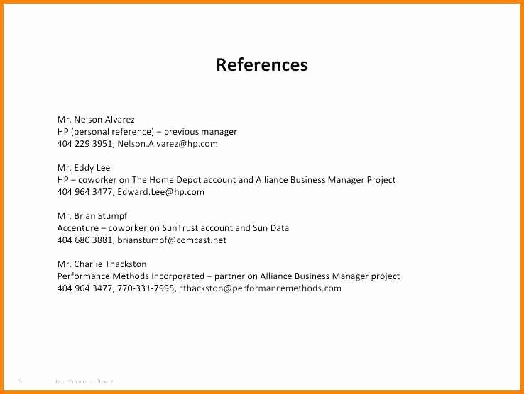 Sample Of References for Resume Luxury 14 How to Write A Personal Reference