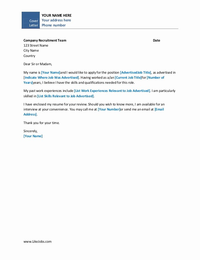 Sample Of Simple Cover Letter Best Of Simple Cover Letter Samples Inenx