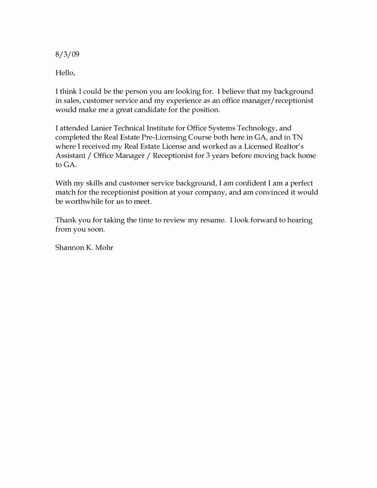 Sample Of Simple Cover Letter Fresh Best 25 Simple Cover Letter Ideas On Pinterest