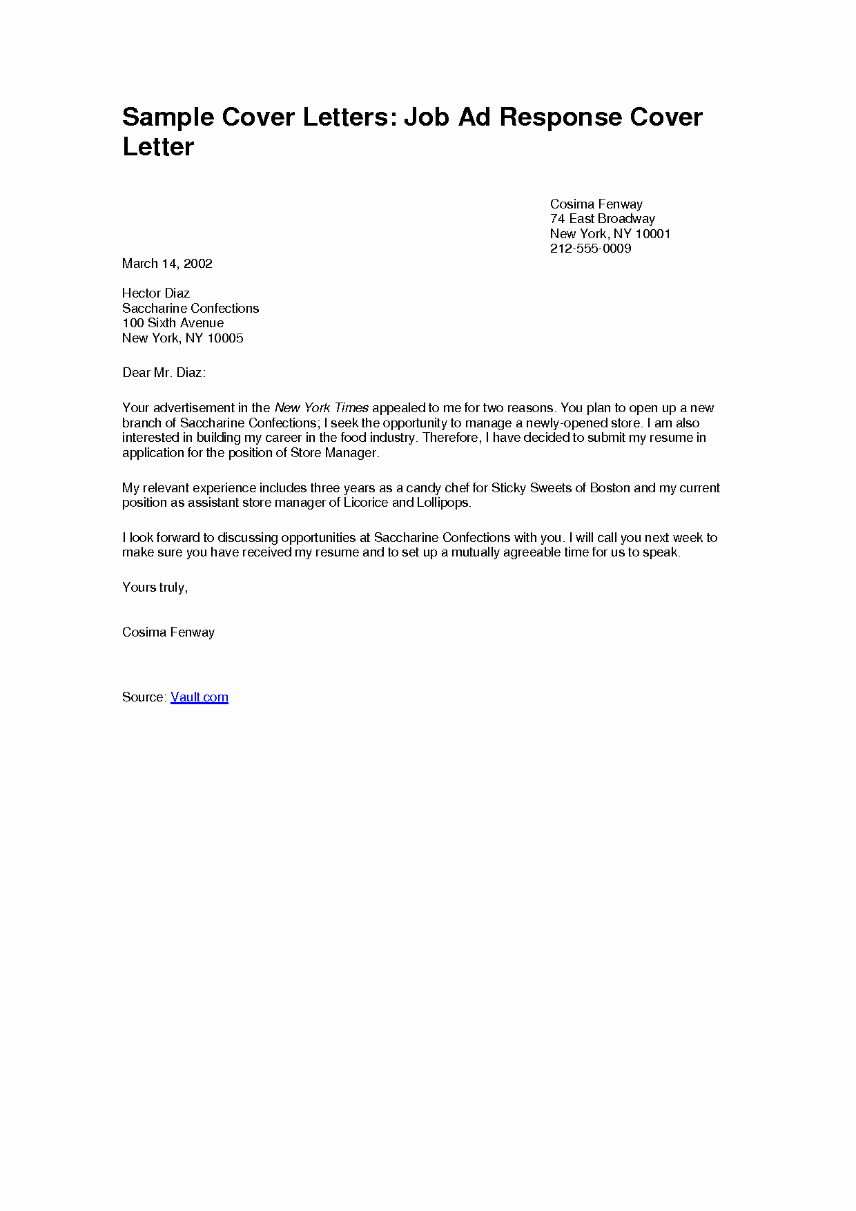 Sample Of Simple Cover Letter Fresh Simple Job Application Cover Letter Examples