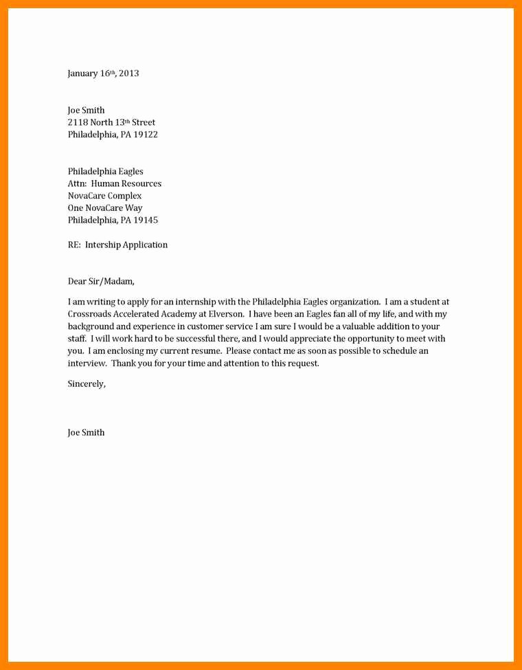 Sample Of Simple Cover Letter Inspirational 16 Simple Application Letter