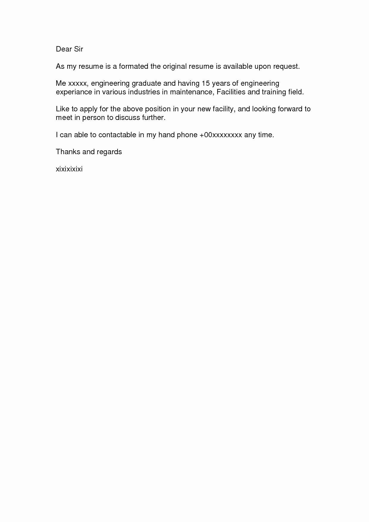 Sample Of Simple Cover Letter New 10 Best Of Basic Cover Letter for Resume Sample