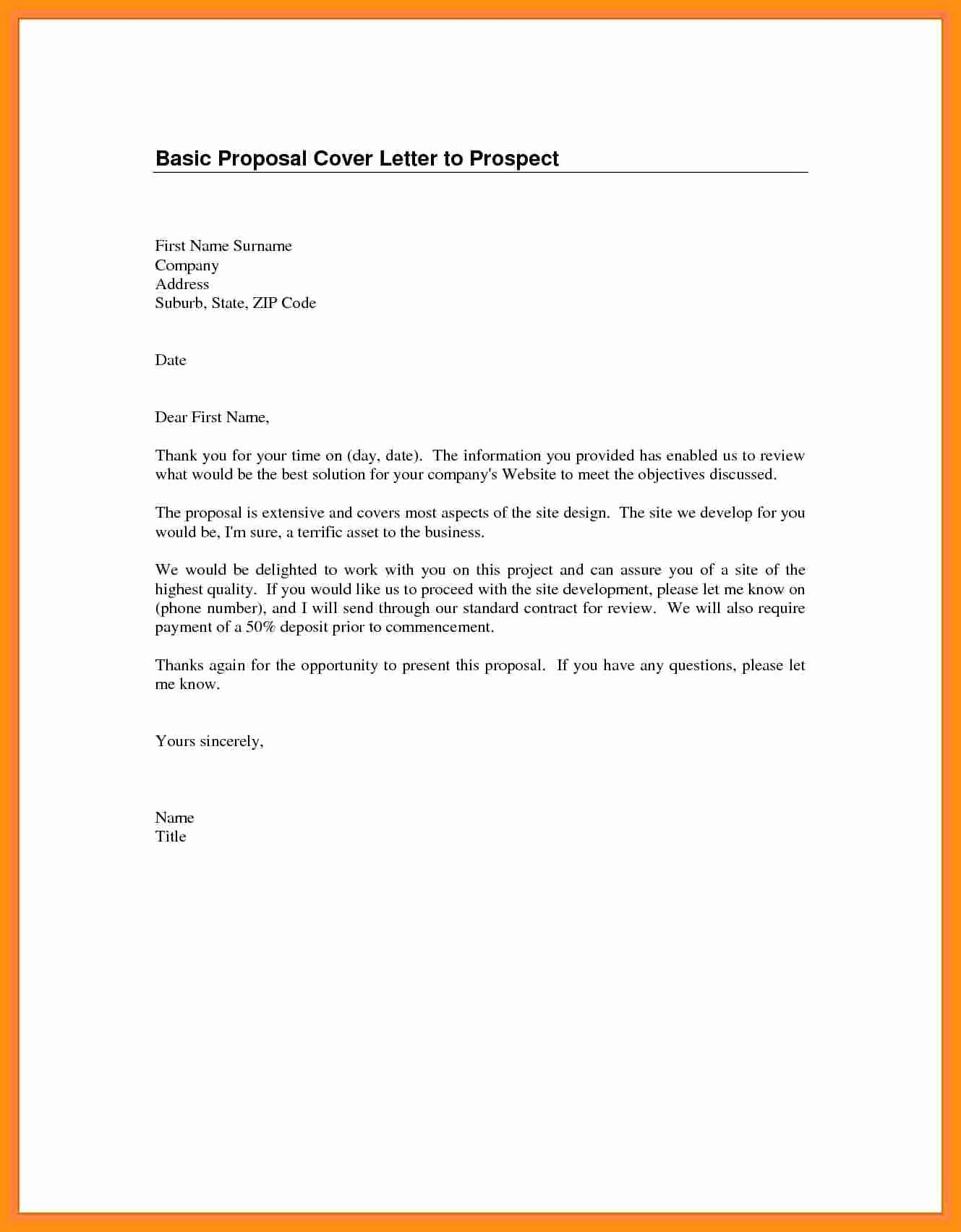 Sample Of Simple Cover Letter New Basic Cover Letter for Any Job