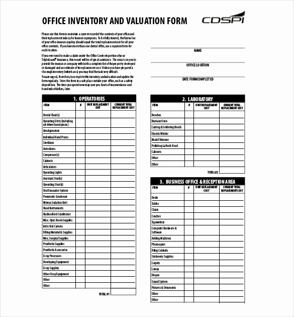 Sample Office Supply Inventory List Best Of Sample Inventory List 30 Free Word Excel Pdf