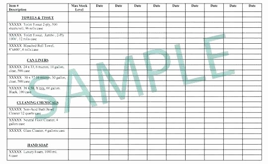 Sample Office Supply Inventory List Elegant Janitorial Cleaning Supplies List Fice Supply List
