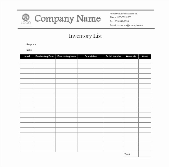 Sample Office Supply Inventory List Elegant Sample Inventory List 30 Free Word Excel Pdf
