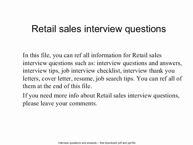 Sample P&l Report Beautiful Retail Interview Questions Interview Questions for A