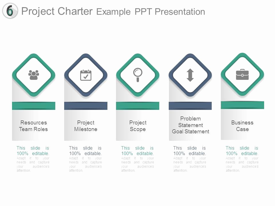 Sample Ppt for Project Presentation Awesome Project Charter Example Ppt Presentation