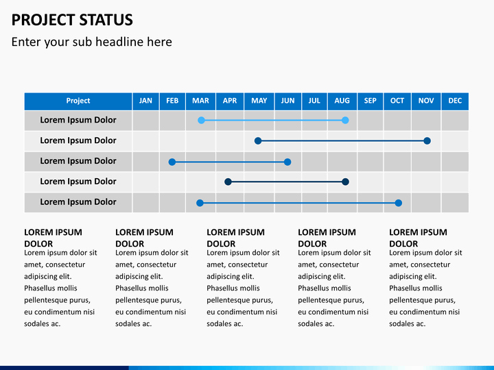 Sample Ppt for Project Presentation Elegant Project Status Powerpoint Template