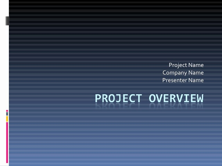 Sample Ppt for Project Presentation Elegant Template for Project Overview