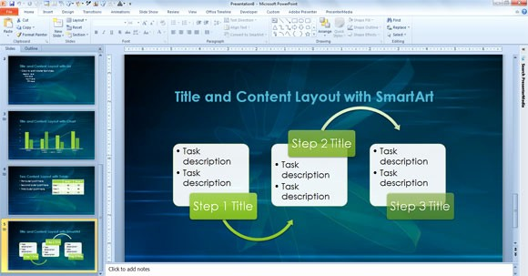 powerpoint template for scientific presentations and academic projects