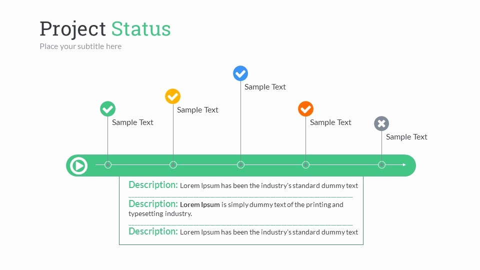 Sample Ppt for Project Presentation Lovely Project Status Powerpoint Presentation Template by Sananik
