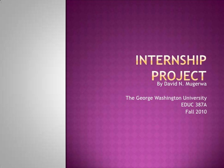 Sample Ppt for Project Presentation Luxury Internship Project Power Point Presentation