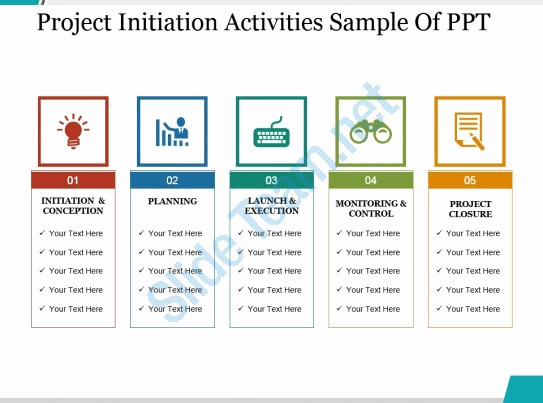 Sample Ppt for Project Presentation Luxury Project Initiation Activities Sample Ppt