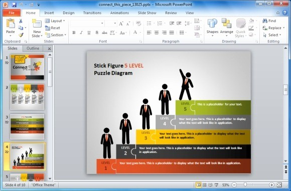 Sample Ppt for Project Presentation New Animated Puzzle Pieces Powerpoint Template with Stick Figures