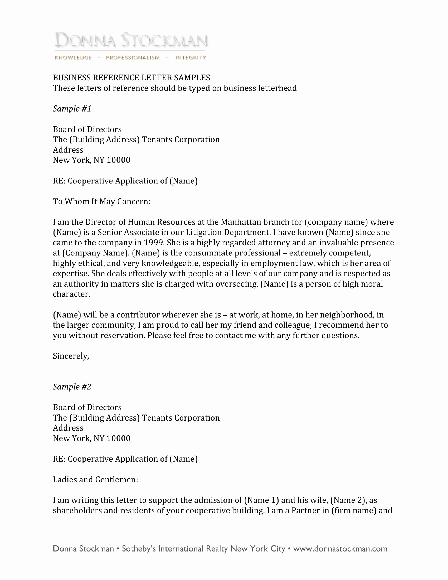 Sample Professional Letter Of Recommendation Awesome 10 Business Reference Letter Examples Pdf