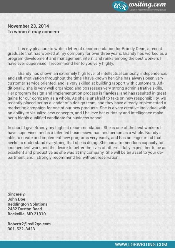 Sample Professional Letter Of Recommendation Fresh Professional Business School Re Mendation Letter Sample