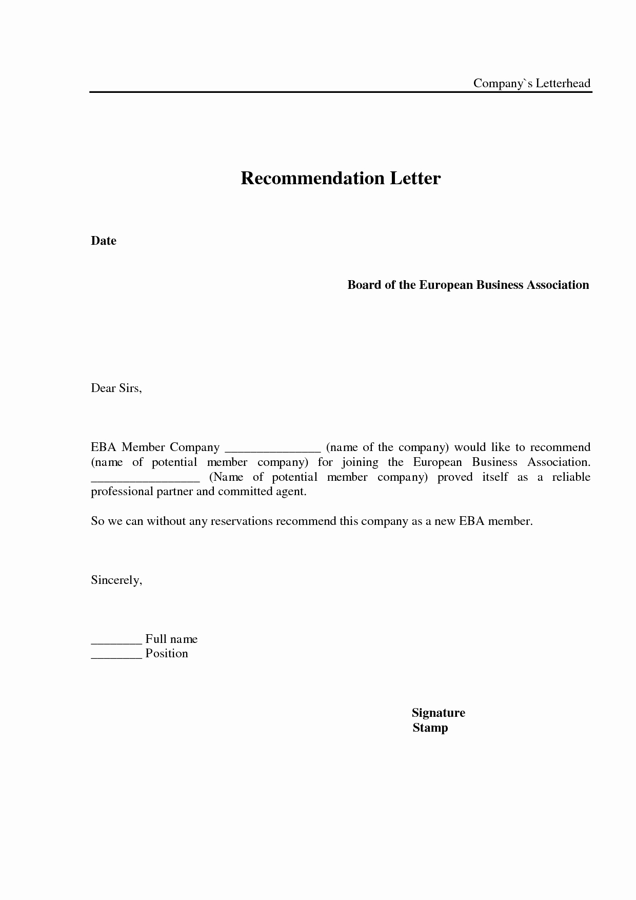 Sample Professional Letter Of Recommendation Lovely Best S Of Business Reference Letter Samples