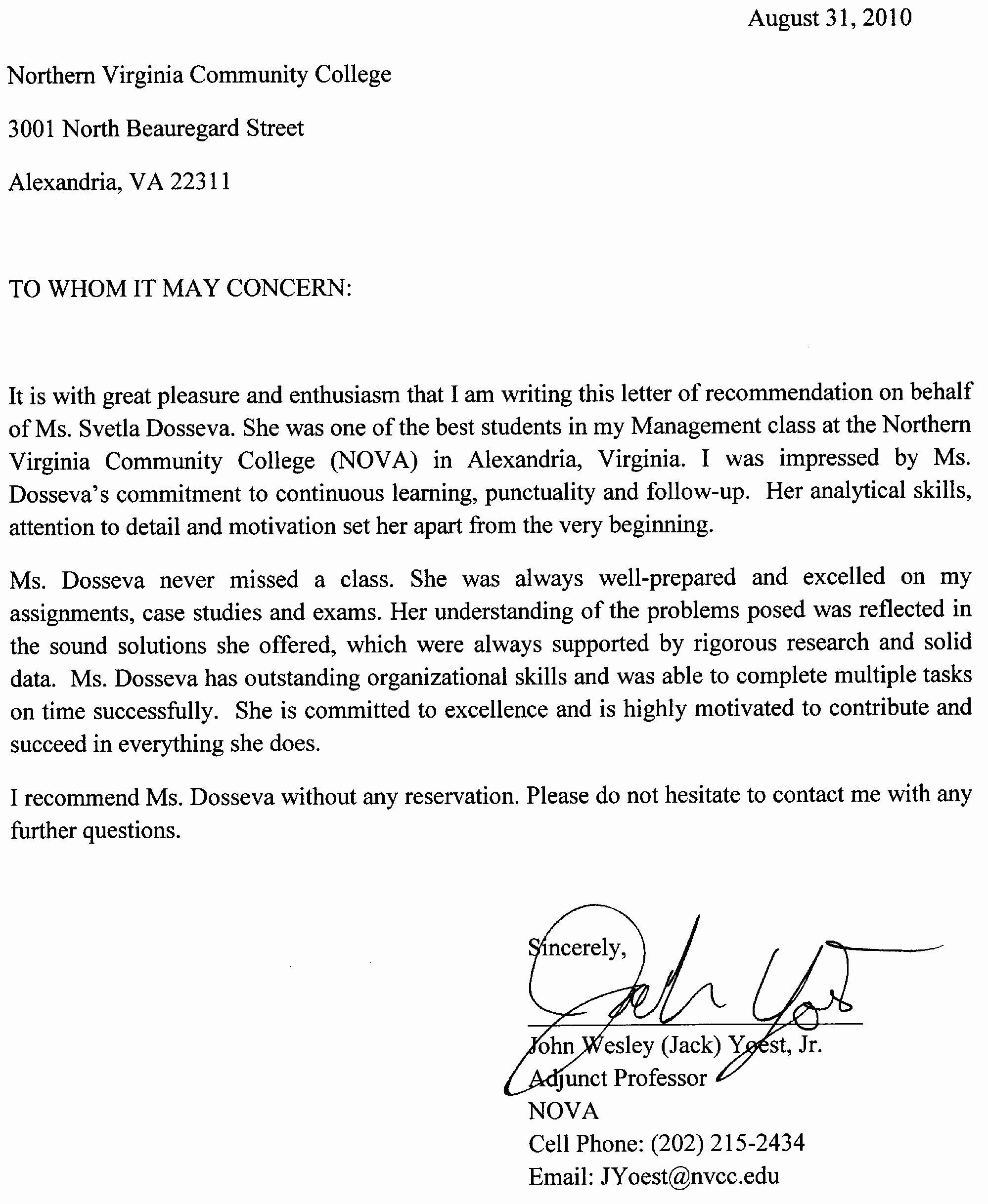 Sample Professional Letter Of Recommendation Unique Re Mendation Letter Job Application Sample