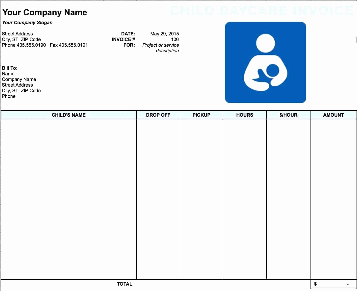 Sample Profit Loss Statement Template Fresh Template Daycare Profit and Loss Statement Template