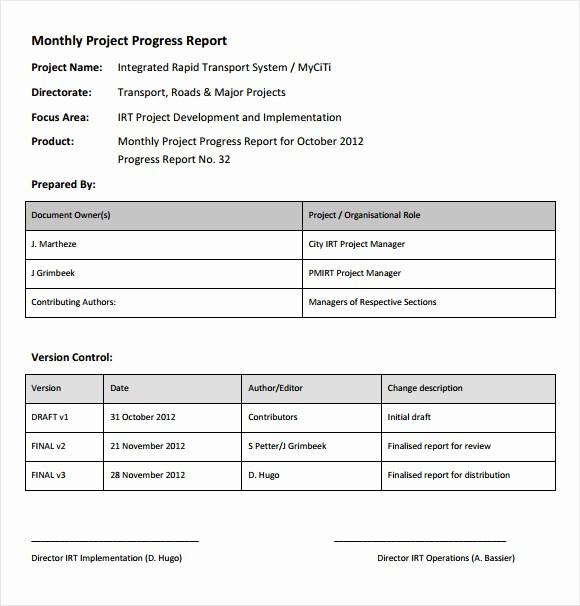 Sample Project Status Report Template Elegant 14 Sample Project Status Reports – Pdf Word Pages