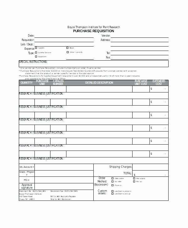 Sample Purchase order In Excel Best Of Sample Requisition form Free Documents In Doc Excel