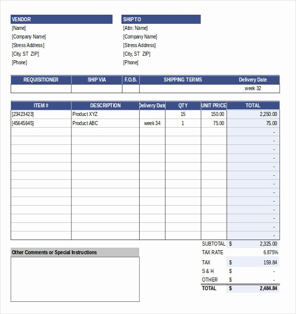 Sample Purchase order In Excel Luxury event order Template – 12 Free Excel Pdf Documents