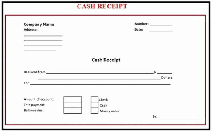Sample Receipt Of Money Received Fresh 6 Free Cash Receipt Templates Excel Pdf formats