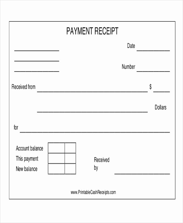 Sample Receipt Of Money Received Unique 14 Payment Receipt Acknowledgment – Pdf Word Excel