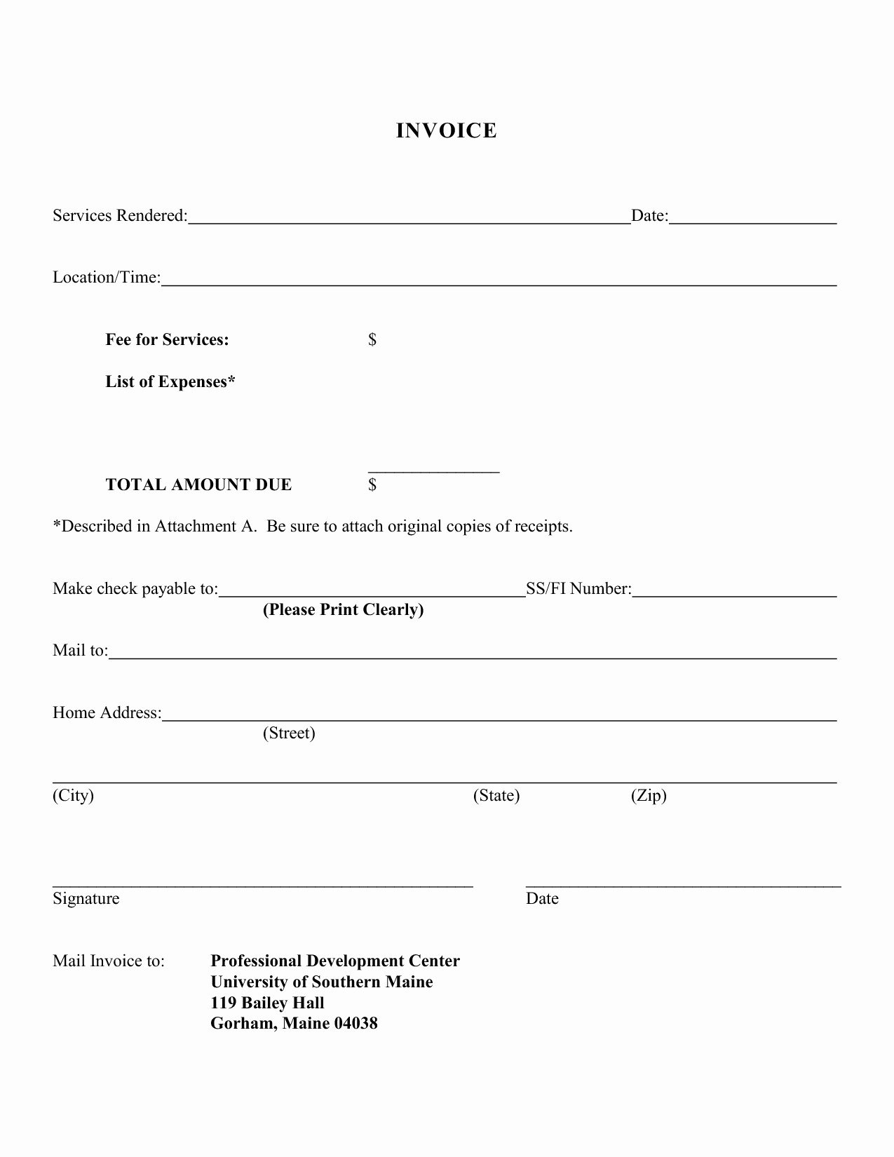 Sample Receipts for Services Rendered Elegant Free Template for Invoice for Services Rendered Invoice