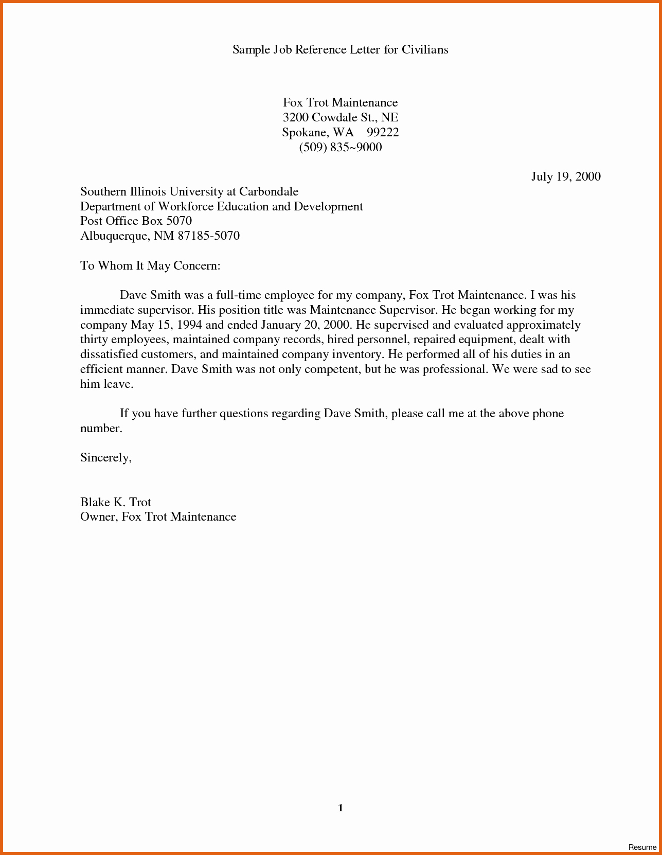 Sample Recommendation Letter for Employment Best Of Sample Reference Letter for Job Applicant