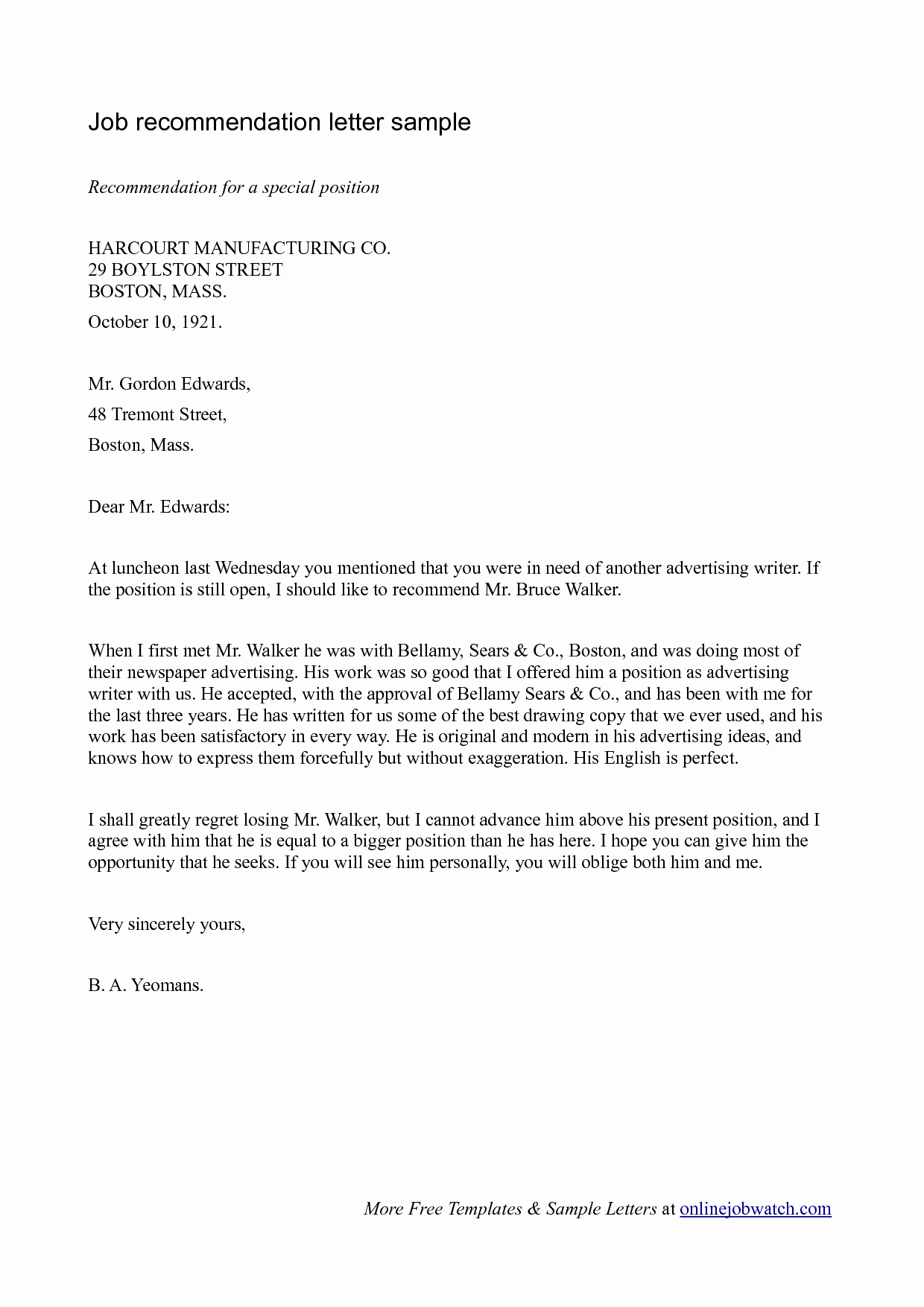 Sample Recommendation Letter for Employment Fresh Simple Guide Professional Reference Letter with Samples