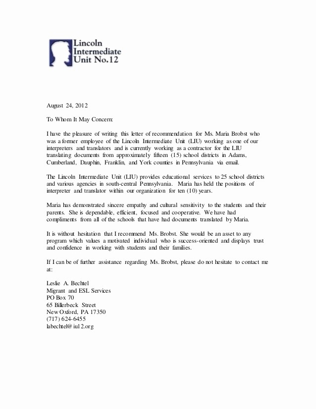 Sample Recommendation Letters for Employee Lovely the Gallery for Letter Re Mendation Sample for