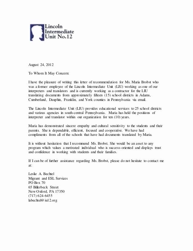 Sample Reference Letter for Employee Elegant the Gallery for Letter Re Mendation Sample for