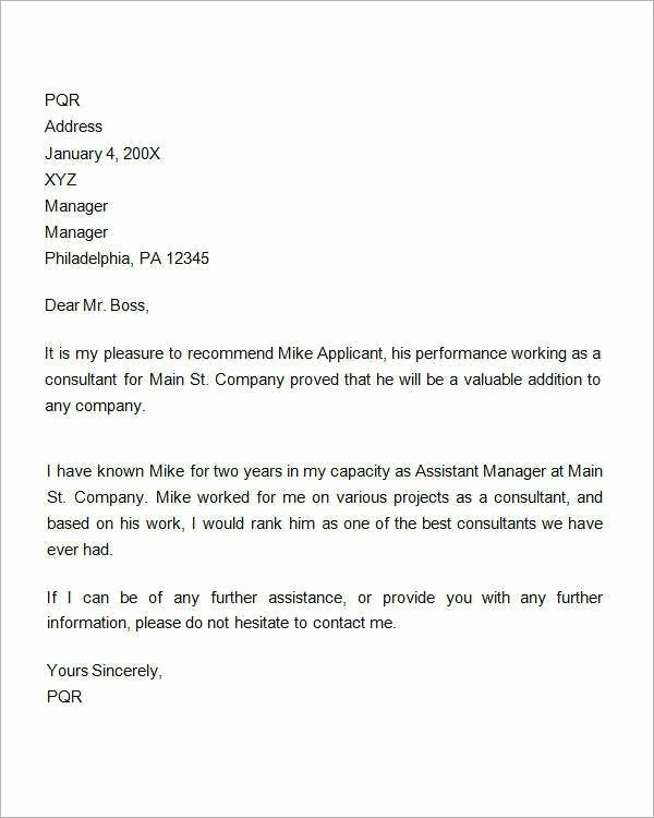 Sample Reference Letter for Employee Unique Referral Letter Sample for Employment