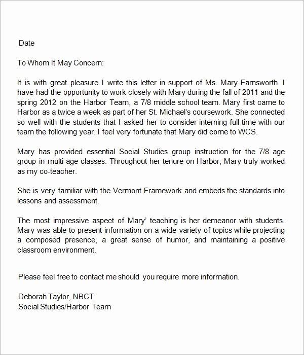 Sample Reference Letters for Teachers Lovely 13 Letters Of Re Mendation for Teacher